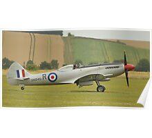 Supermarine Spitfire mk18 (SM845) Poster