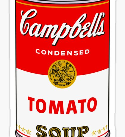 Campbell's Tomato Soup Can - Andy Warhol Sticker