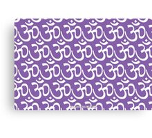 Yoga Ohm Symbol PURPLE Canvas Print