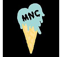 MNC - Ice cream heart (blue) Photographic Print