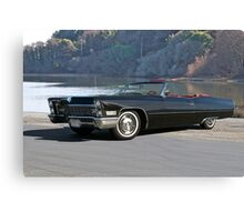 1968 Cadillac DeVille Convertible 'Lakeside' Canvas Print