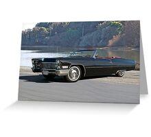 1968 Cadillac DeVille Convertible 'Lakeside' Greeting Card