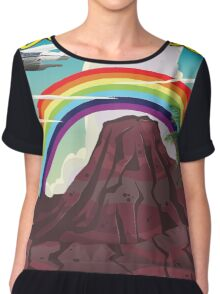 Hawaii Rainbow travel poster  Chiffon Top