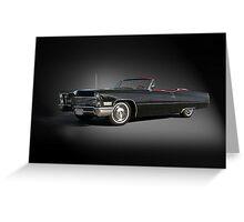 1968 Cadillac DeVille Convertible 'Studio' Greeting Card