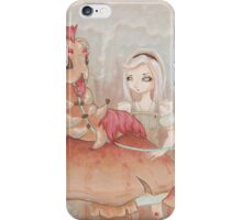 Alice and the Caterpillar. iPhone Case/Skin