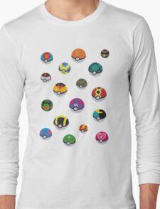 Pokeballs - Pokémon Long Sleeve T-Shirt