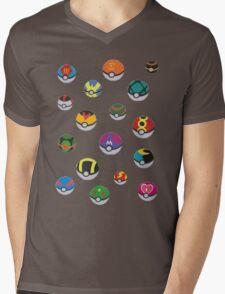 Pokeballs - Pokémon Mens V-Neck T-Shirt