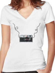 Love x x  Leica  Love x x Women's Fitted V-Neck T-Shirt