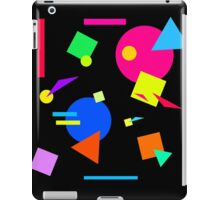 Coloured Retro (Large) Shapes 1980's - Black - 80s 80's 1980s 1980's 1980 Classic Throw Back iPad Case/Skin