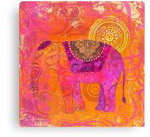 Happy Elephant II Canvas Print