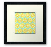 Lemon Pattern Framed Print