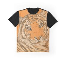 Tiger in Orange Graphic T-Shirt