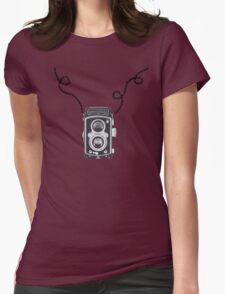 Retro Rolleiflex Design Womens Fitted T-Shirt
