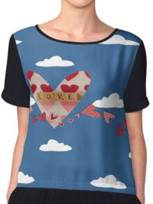 Valentine Women's Chiffon Top