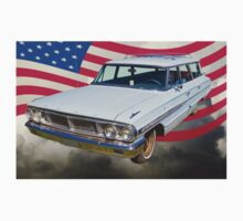 1964 Ford Galaxy Station Wagon And American Flag Kids Clothes