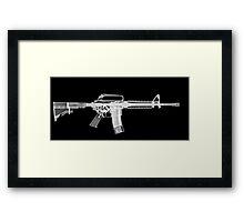 M4 (m16A2) Assault rifle under x-ray Framed Print