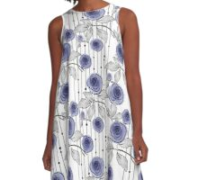 Abstract Rose pattern. A-Line Dress
