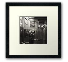 Subway comfort Framed Print