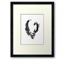 Alphabet Letter V Abstract Watercolour white Framed Print