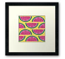 Watermelon Pattern Framed Print
