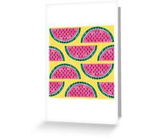Watermelon Pattern Greeting Card