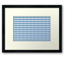 UNC Argyle Carolina Blue Tarheel Framed Print