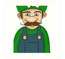 Brother, Luigi Art Print