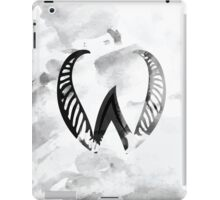 Letter W Alphabet Abstract Watercolour Textured iPad Case/Skin