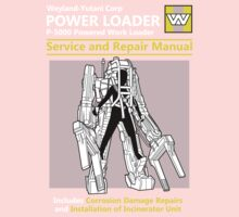 Power Loader Service and Repair Manual Kids Tee