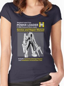 Power Loader Service and Repair Manual Women's Fitted Scoop T-Shirt