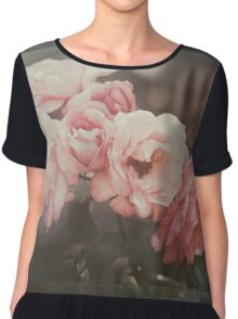 Aunt Mary's roses Women's Chiffon Top