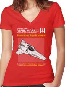 Viper Mark II Service and Repair Manual Women's Fitted V-Neck T-Shirt