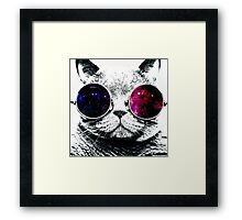 Retro Cat Framed Print