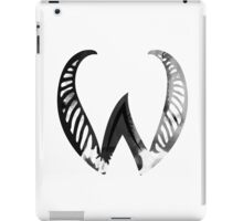 Alphabet Letter W Abstract Watercolour white iPad Case/Skin