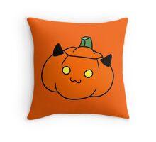 Kitty Jack o' Lantern Throw Pillow