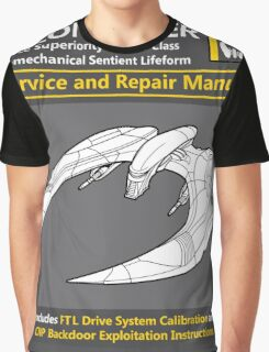 Cylon Raider Service and Repair Manual Graphic T-Shirt