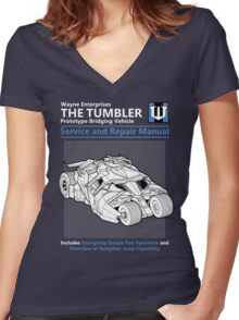 Bridging Vehicle Service and Repair Manual Women's Fitted V-Neck T-Shirt
