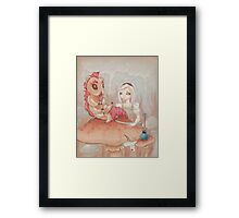 Alice and the Caterpillar. Framed Print