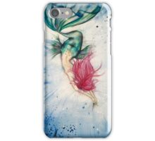 Voluptuous Mermaid Diving into Water iPhone Case/Skin