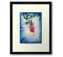 Voluptuous Mermaid Diving into Water Framed Print