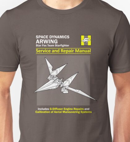 Arwing Service and Repair Manual Unisex T-Shirt
