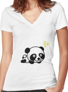 lazy panda Women's Fitted V-Neck T-Shirt