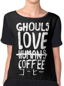 Ghouls love coffee Chiffon Top