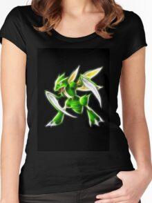 Pokemon - Scyther Brush Neon Light Women's Fitted Scoop T-Shirt