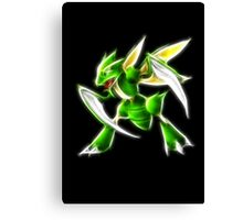 Pokemon - Scyther Brush Neon Light Canvas Print