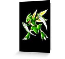 Pokemon - Scyther Brush Neon Light Greeting Card