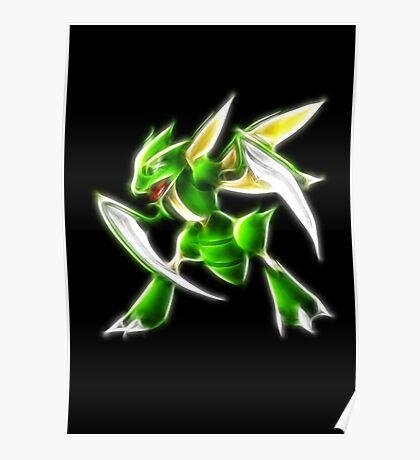 Pokemon - Scyther Brush Neon Light Poster