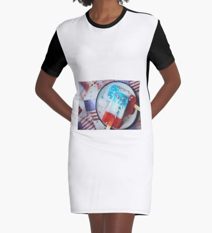 American flag popsicles Graphic T-Shirt Dress