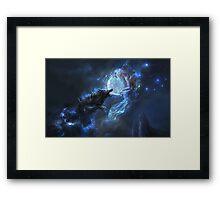 Loup noire Framed Print