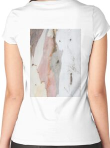 TREE, BARK, TEXTURE, color, Eco, Ecology, Nature, Natural World Women's Fitted Scoop T-Shirt